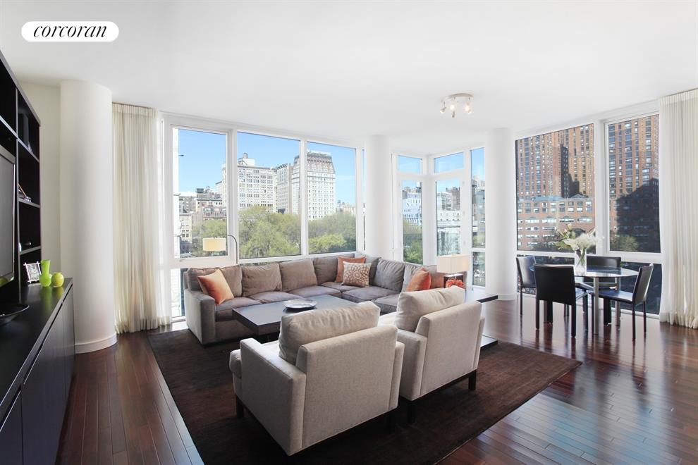 Corcoran 8 union sq s apt 5a greenwich village real - The living room at the w union square ...