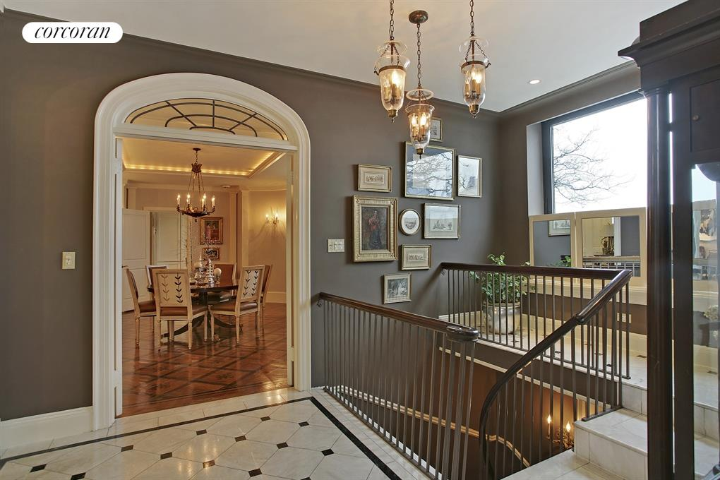 Foyer with beautiful architectural detail & window