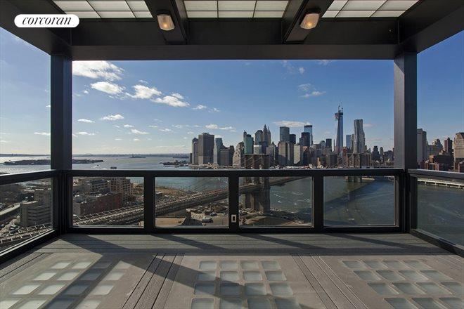 """INCREDIBLE Master of the World 360* view of Wall Street NYC and beyond from this Penthouse apartment's """"crow's nest"""""""