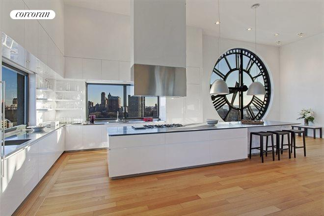 Here's another 14ft clock face..this time next to an incredible Open kitchen worthy of a Michelin Star chef