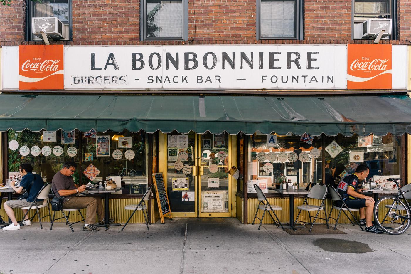 La Bonbonniere in West Village Manhattan