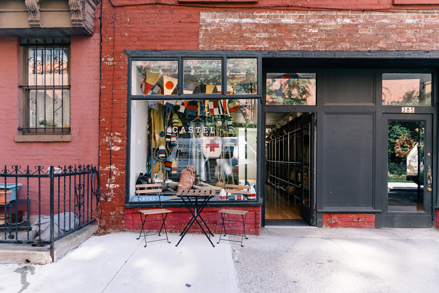 "Brick storefront in Boerum Hill"" style="