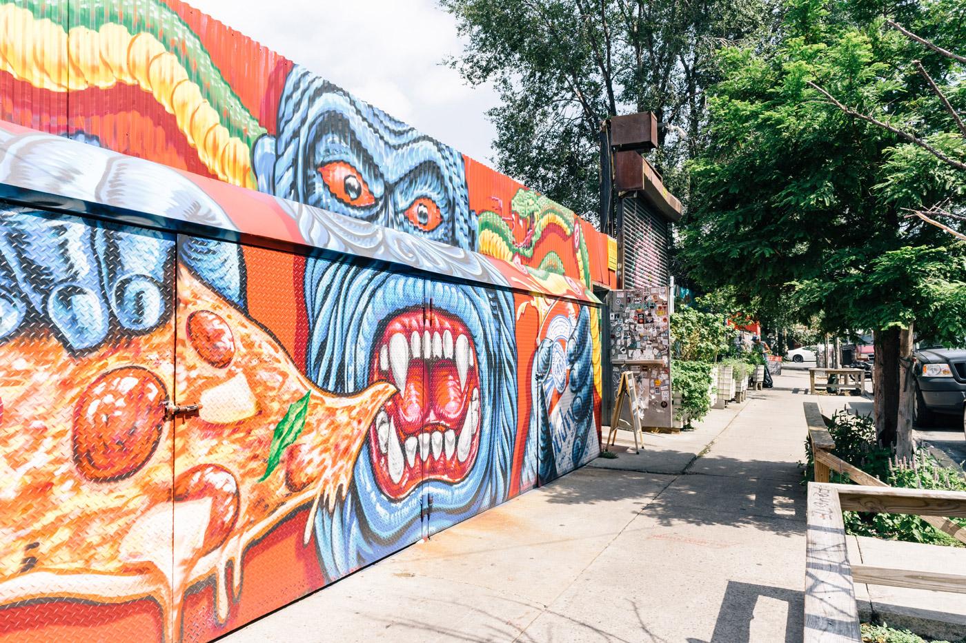 Graffiti murals in Bushwick, Brooklyn