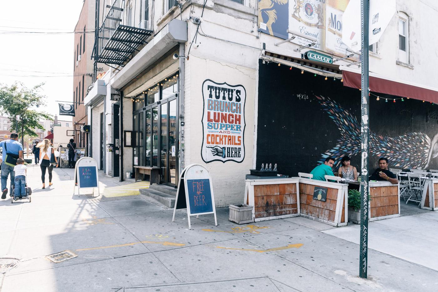 Dining at Tutu's in Bushwick, Brooklyn