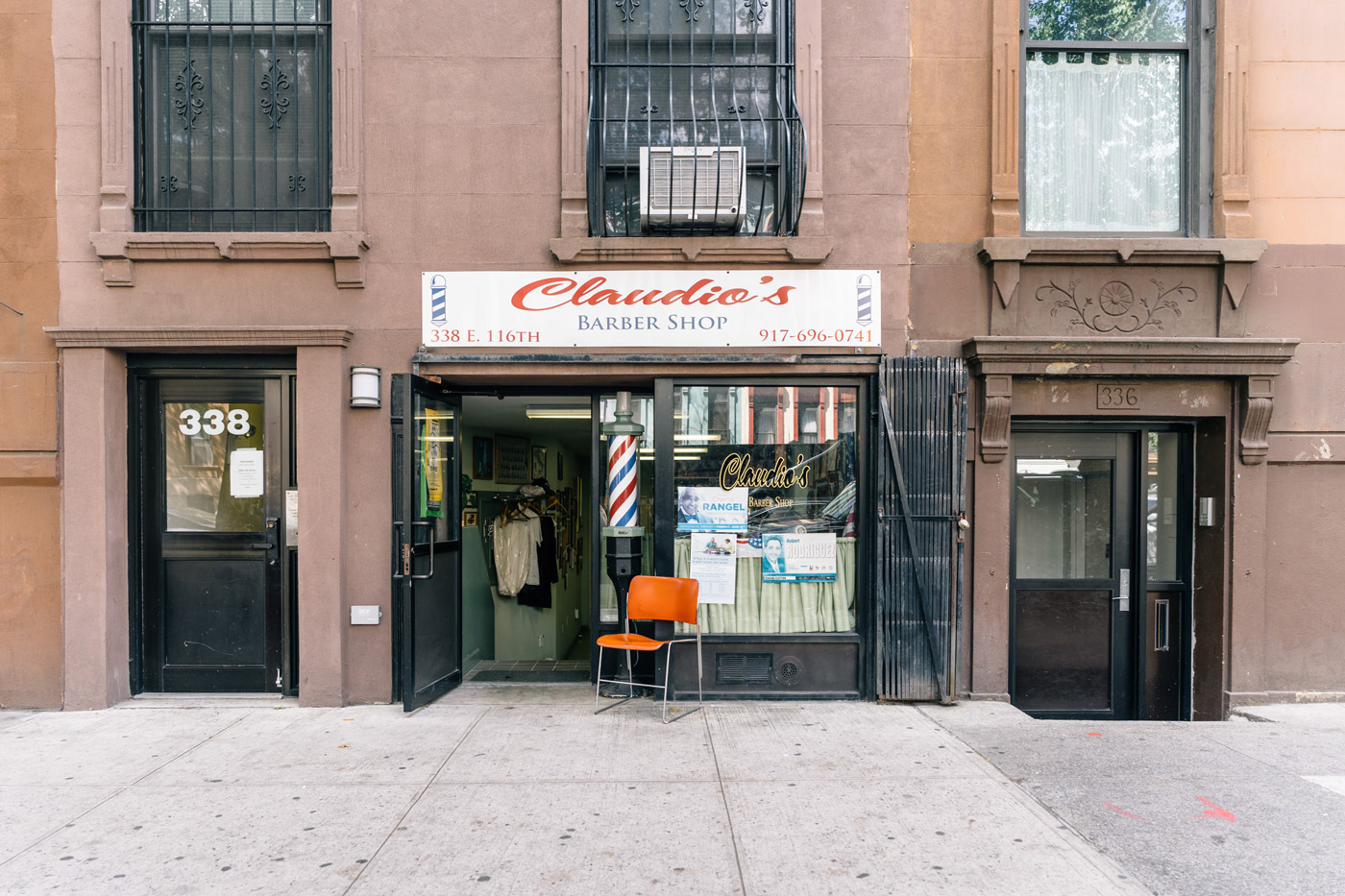Claudio's Barber Shop at 338 E. 116th Street in East Harlem
