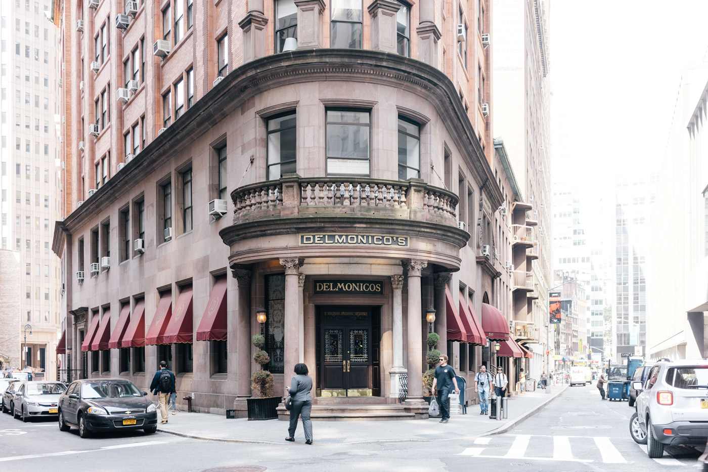 The famous Delmonico's in the Financial District