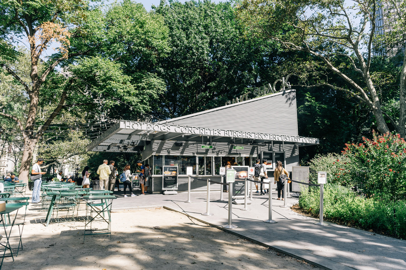 The first Shake Shack location in Madison Square Park
