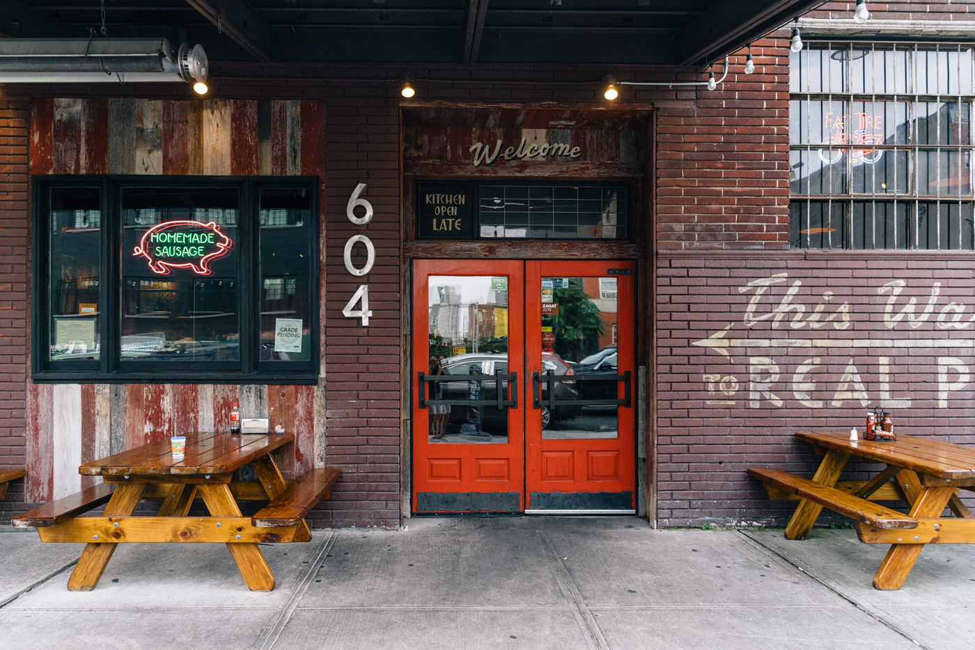 """Dinosaur Bar-B-Que entrance on Union St. in Gowanus"""" style="""