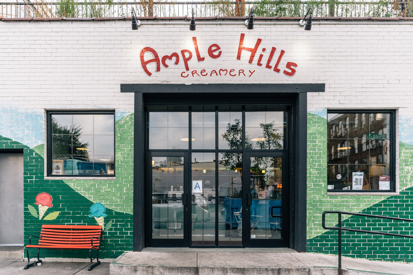 "Some Ample Hills Creamery on Union St. and Nevins St. in Gowanus"" style="