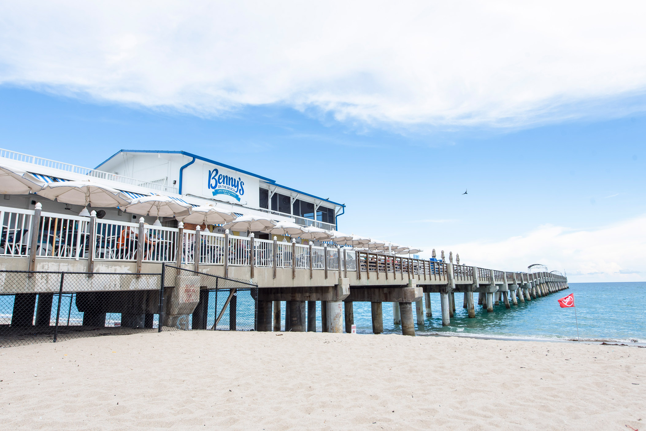 "Benny's On The Beach on the Lake Worth Pier in Lake Worth"" style="