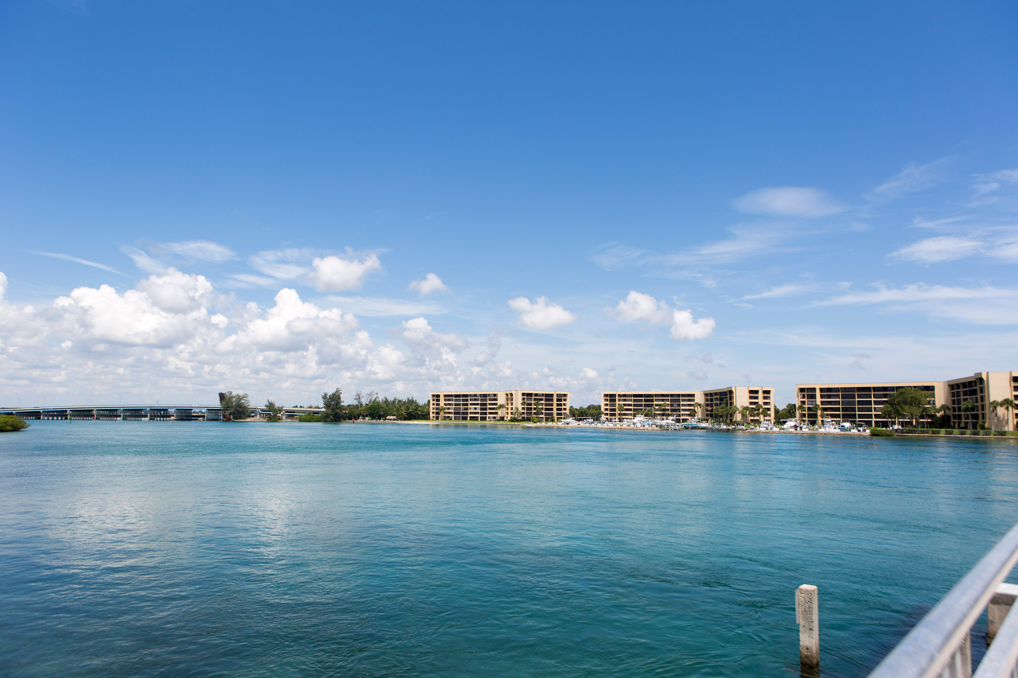 "Waterfront residential buildings in Tequesta"" style="