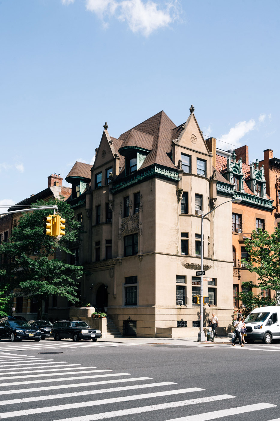 Historic mansions in the Upper West Side in Manhattan