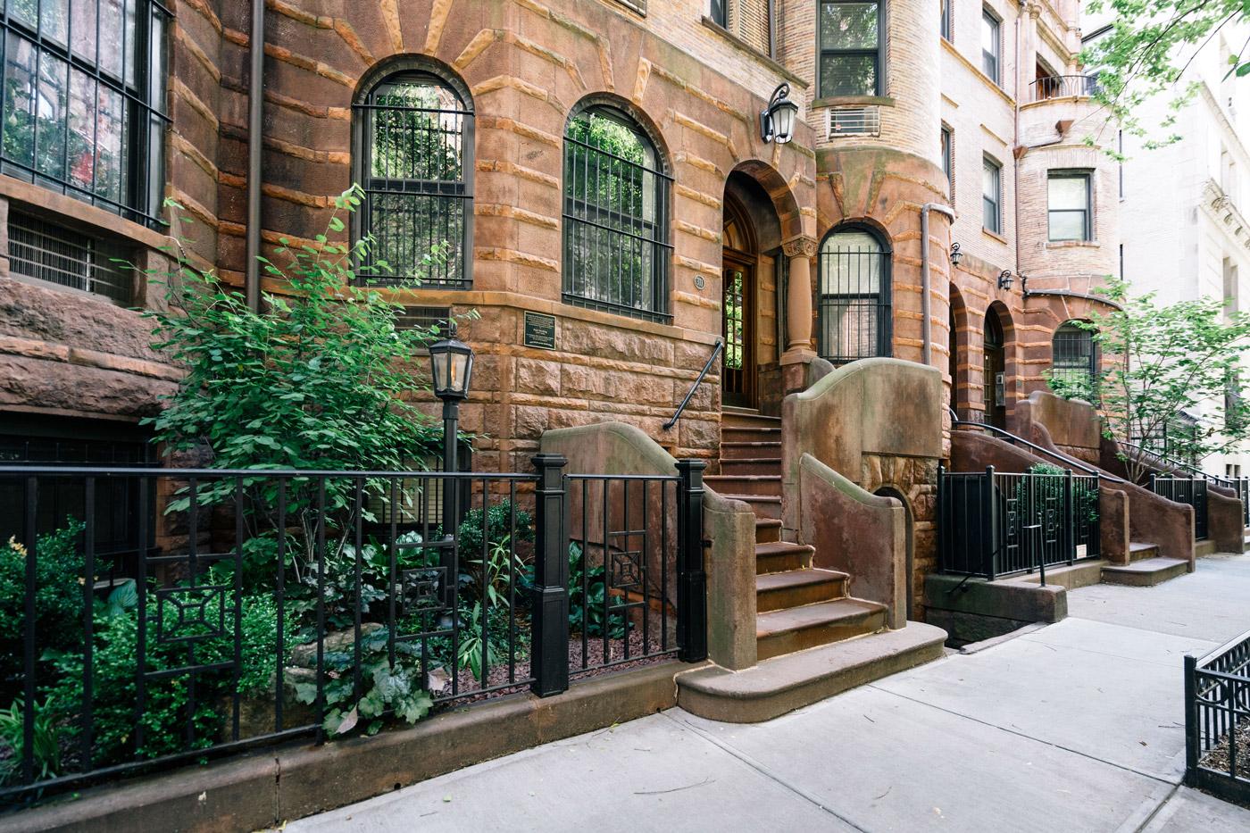 Brownstones in the Upper West Side in Manhattan