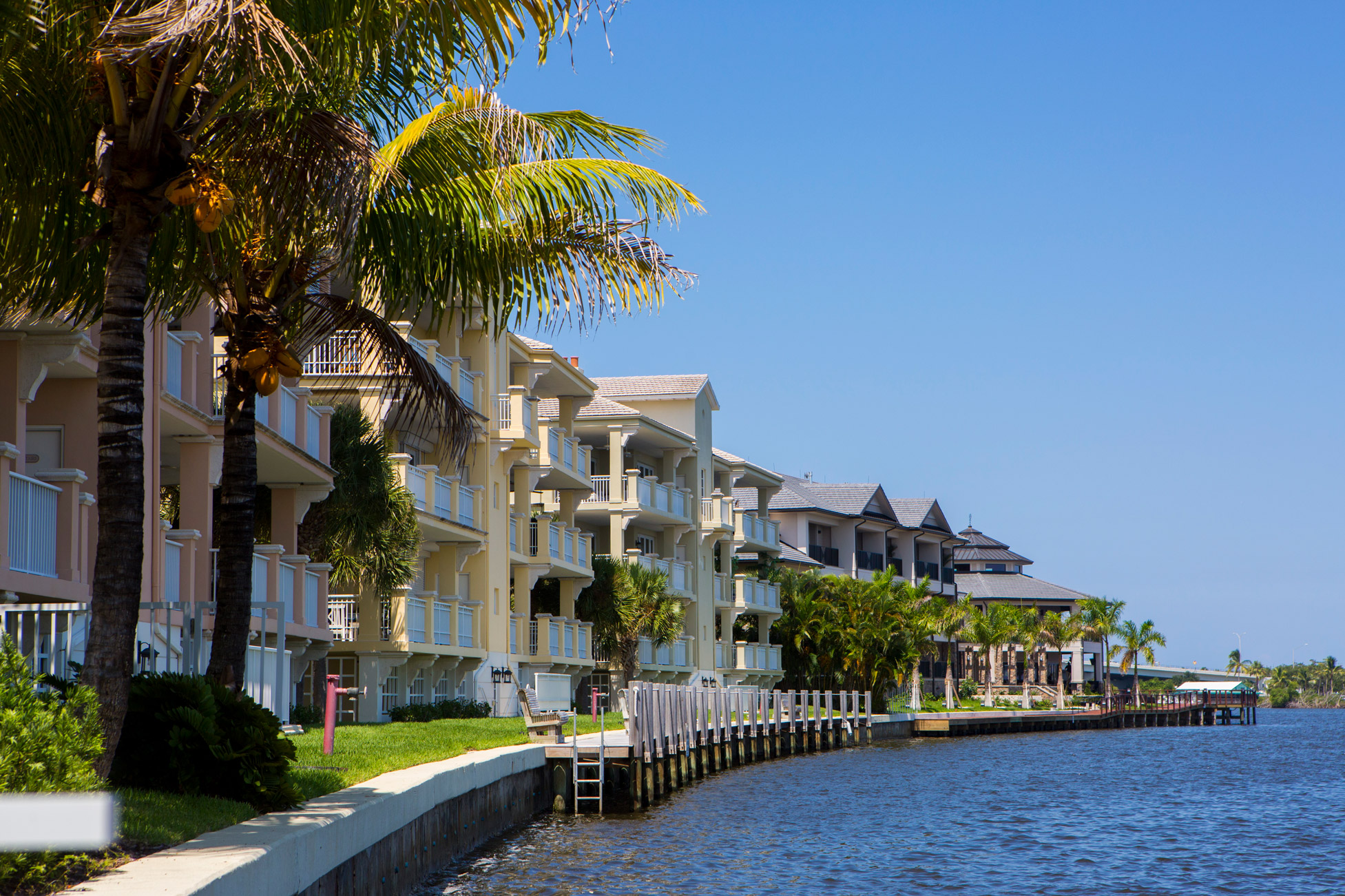 "Waterfront residential buildings in Vero Beach"" style="